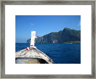 Long Boat Tour - Phi Phi Island - 0113134 Framed Print
