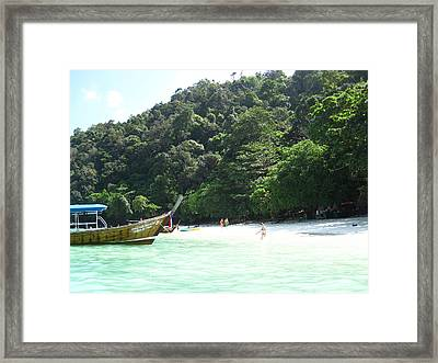 Long Boat Tour - Phi Phi Island - 0113170 Framed Print by DC Photographer