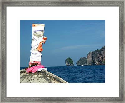 Long Boat Tour - Phi Phi Island - 0113182 Framed Print by DC Photographer