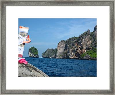 Long Boat Tour - Phi Phi Island - 0113184 Framed Print by DC Photographer