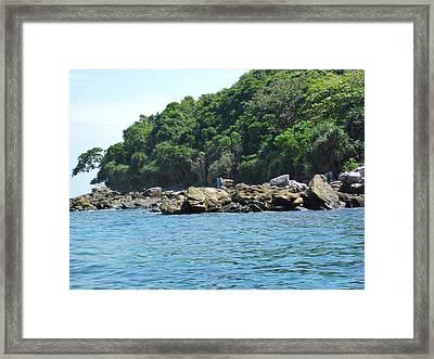 Long Boat Tour - Phi Phi Island - 0113199 Framed Print