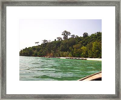 Long Boat Tour - Phi Phi Island - 0113216 Framed Print by DC Photographer