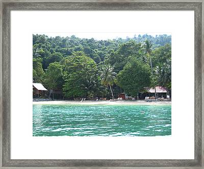 Long Boat Tour - Phi Phi Island - 0113262 Framed Print by DC Photographer