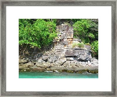 Long Boat Tour - Phi Phi Island - 0113265 Framed Print