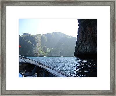 Long Boat Tour - Phi Phi Island - 011394 Framed Print by DC Photographer