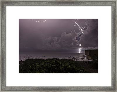 Long Bolt Framed Print