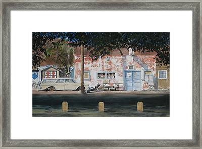 Long Branch Saloon Luning Nevada Framed Print by Richard Eaves Woods