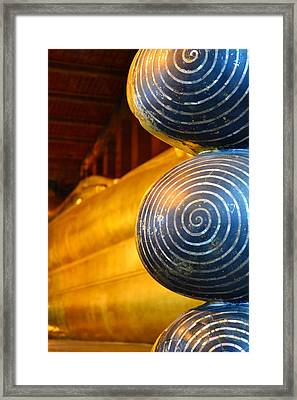 Long Buddha Statue Framed Print by Chaichana Pratomwong