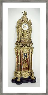 Long-case Musical Clock Clock Movement By Jean-françois Framed Print by Litz Collection