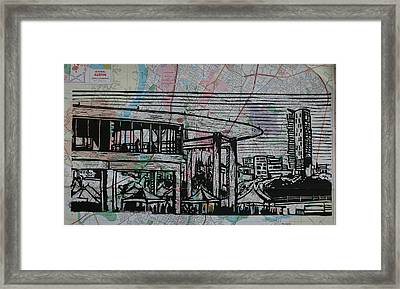 Long Center On Map Framed Print by William Cauthern