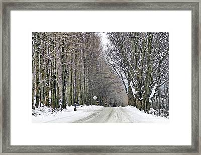 Long Country Road Framed Print