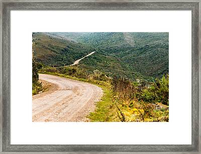 Long Country Road Framed Print by Jess Kraft