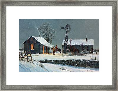 Long Day's End Framed Print