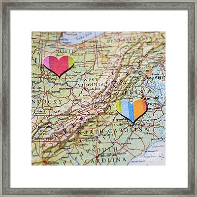 Long Distance Love Framed Print by Jan Bickerton
