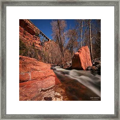 Long Exposure Photo Taken In The Oak Framed Print