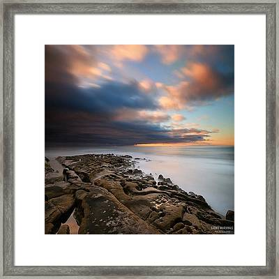Long Exposure Sunset Of An Incoming Framed Print by Larry Marshall
