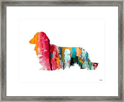 Long Haired Dachshund 2 Framed Print by Luke and Slavi
