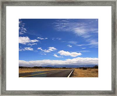 Framed Print featuring the photograph Long Highway by Bob Pardue