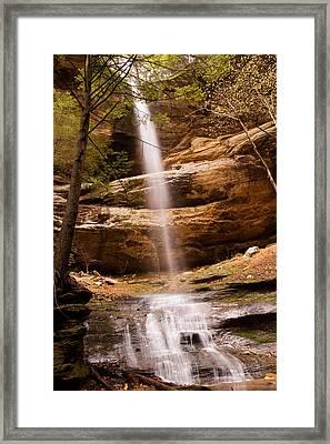 Long Hollow Waterfall Framed Print by Haren Images- Kriss Haren