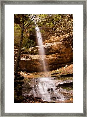 Long Hollow Waterfall Framed Print