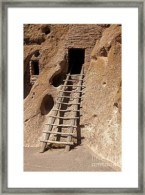 Long House Front Door Bandelier National Monument Framed Print