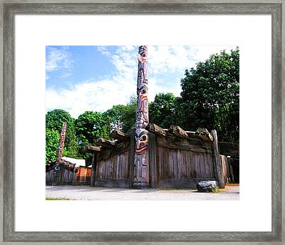 Long Houses Of West Coast Framed Print