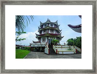 Long Hua Temple, Davao, Mindanao Framed Print by Michael Runkel