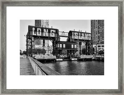 Long Island City Bw Framed Print by Susan Candelario