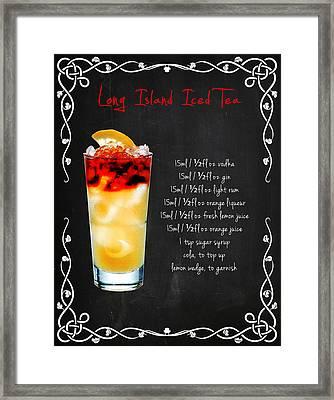 Long Island Iced Tea Framed Print by Mark Rogan