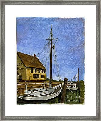 Long Island Marina Framed Print