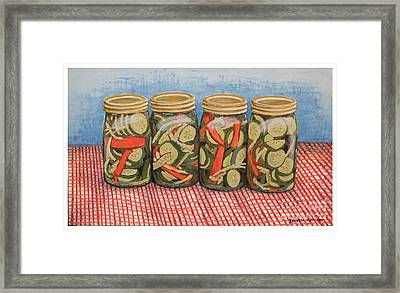 Long Island Pickles Framed Print by Reuven Gayle