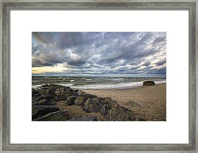 Long Island Sound Whitecaps Framed Print