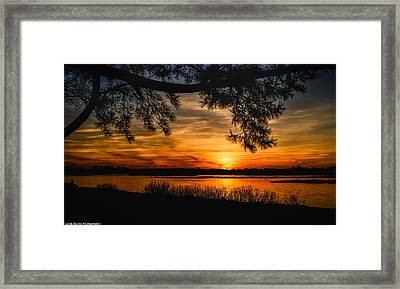 Framed Print featuring the photograph Long Island Sunset by Linda Karlin