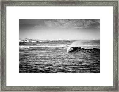 Long Island Wave Framed Print by Ryan Moore