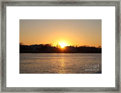 Long Island Winter Sunset Framed Print by John Telfer