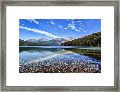 Long Knife Peak At Kintla Lake Framed Print by Scotts Scapes