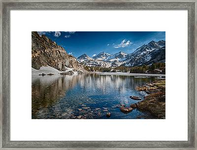 Long Lake Framed Print by Cat Connor