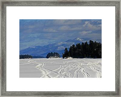 Long Lake Framed Print by Heather Allen