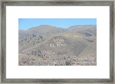 Long Live Peru Framed Print