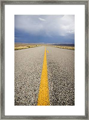 Long Lonely Road Framed Print