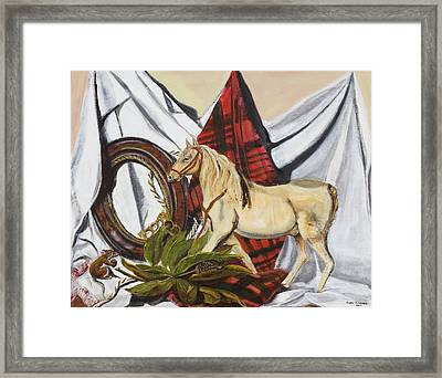 Framed Print featuring the painting Long May He Ride by Susan Culver