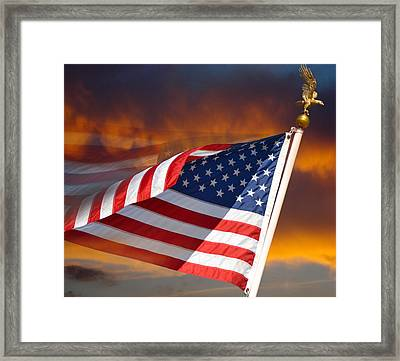 Long May It Wave Framed Print by Ben Kotyuk