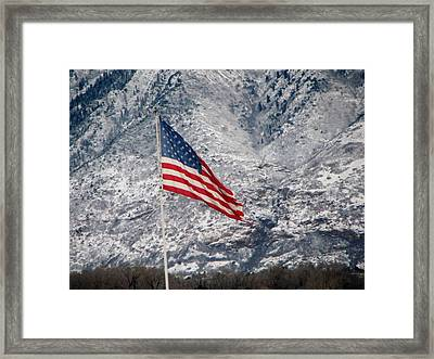 Framed Print featuring the photograph Long May She Wave by John Glass