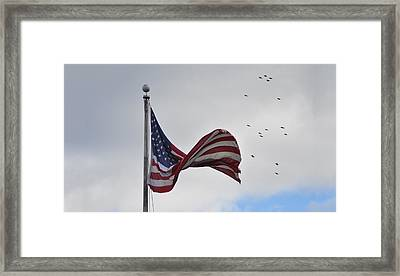 Long May You Wave Framed Print by Bill Cannon