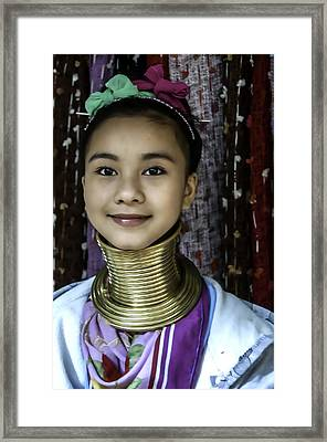 Long Neck Woman Framed Print by Maria Coulson