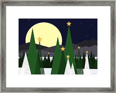 Long Night Moon Framed Print by Val Arie