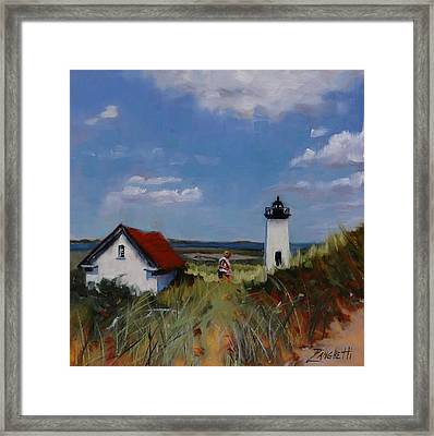 Long Point Lighthouse Framed Print by Laura Lee Zanghetti