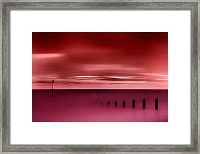 Long Red Sunset Framed Print