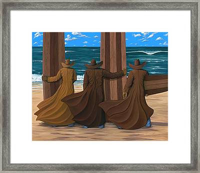 A Long Ride West Framed Print