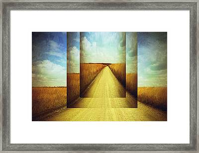 Long Road Home  Framed Print by Ann Powell